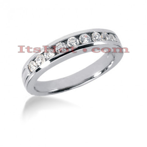 14K Gold Channel Set Diamond Engagement Ring Band 0.39ct Main Image
