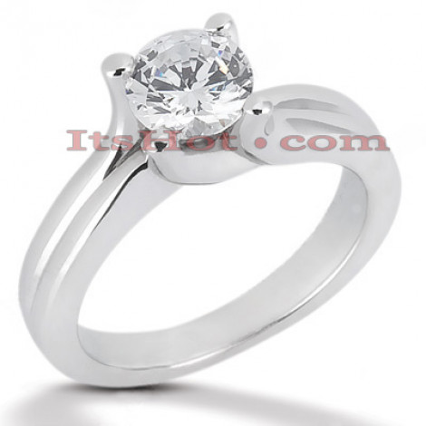 14K Gold Four-Prong Solitaire Engagement Ring 0.50ct 3.2mm Main Image