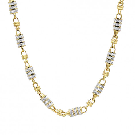 14k Gold Mens Diamond Chain Necklace for Sale 11 Carats by Luxurman Yellow Image