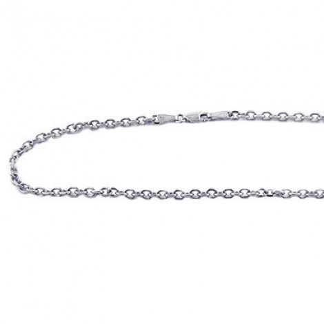14K White Gold Cable Chain 20in-40in long 3mm wide 14k-white-gold-cable-chain-20in-40in-long-3mm-wide_1