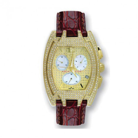 Aqua Master Iced Out Watches Mens Diamond Watch 3.50ct Main Image