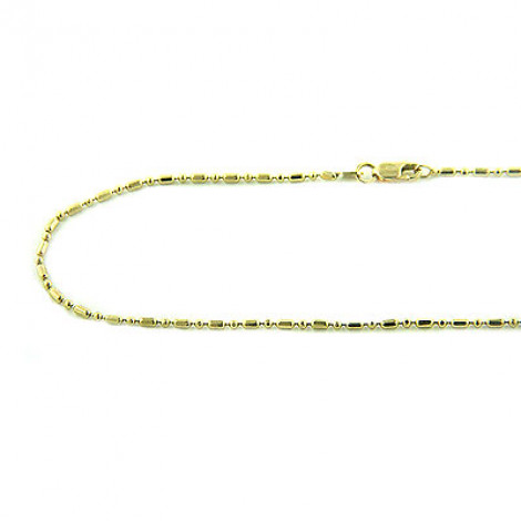 Bead Bar 14K Gold Link Chain 1.5mm White Yellow Gold, 16in - 24in Main Image