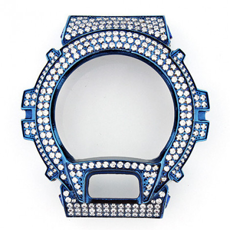 Blue G-Shock Bezel with White Crystals  blue-g-shock-bezel-with-white-crystals_1