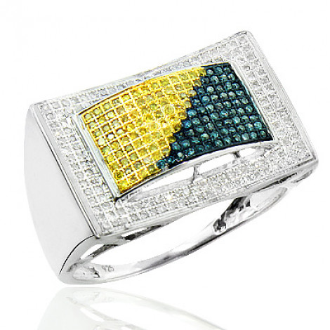 Color Diamond Ring for Men 0.70ct Sterling Silver color-diamond-ring-for-men-070ct-sterling-silver_1