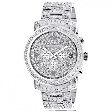 Fully Iced Out Large Diamond Watch for Men by Luxurman Escalade 3.5ct Main Image
