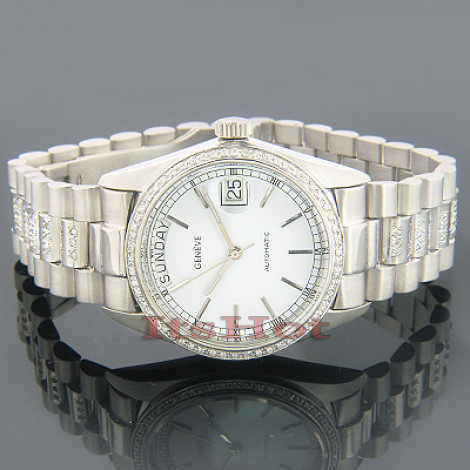 Geneve Solid Gold Watches w Diamonds 1.50ct White Main Image