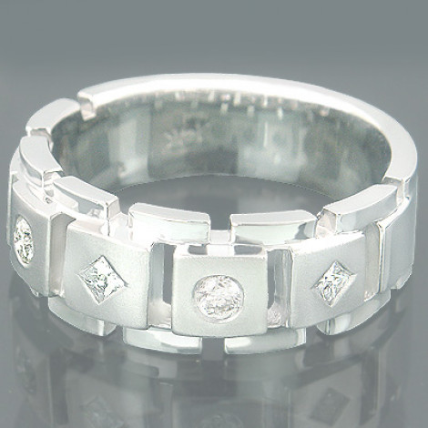Gold Designer Mens Rings Collection Piece 0.39ct Main Image