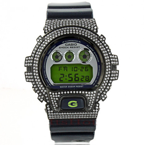 Iced Out G-Shock Watch with White Crystals DW-6900 iced-out-g-shock-watch-with-white-crystals-dw-6900_1