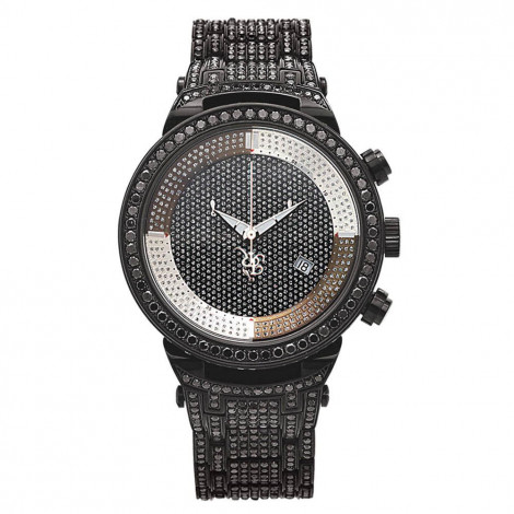 Iced Out Watches: Joe Rodeo Black Diamond Watch 25ct Main Image