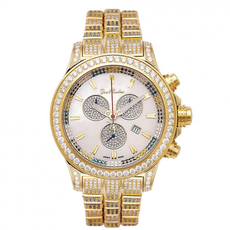 Iced Out Watches Mens Joe Rodeo Watch 26.7ct Yellow Main Image