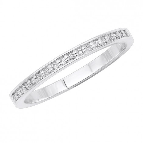 Stackable Rings Thin Diamond Wedding Band for Women in 14k Gold 0.21ct Main Image