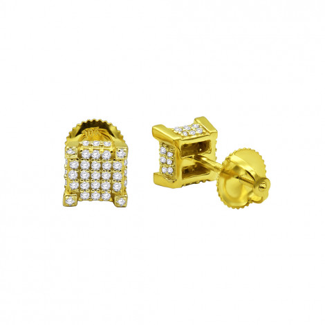 Discounted Diamond Earrings Cubes 10K Gold Studs for Men & Women 1/3ct discount-diamond-earrings-in-10k-gold-039ct_1
