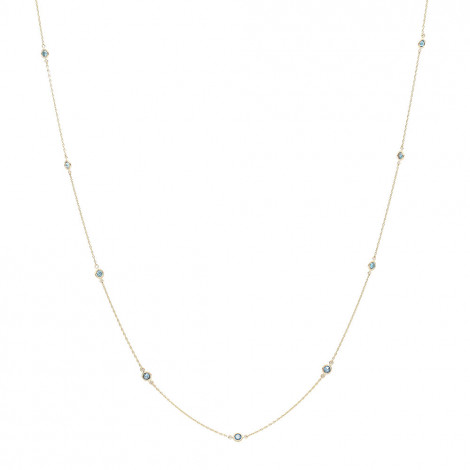 Unique 36inch Blue Diamonds by the Yard Womens Necklace 14K Gold Chain 1.4ct Yellow Image