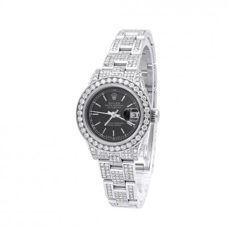 Ladies Rolex Diamond Watch 14.5ct Oyster Perpetual DateJust Main Image