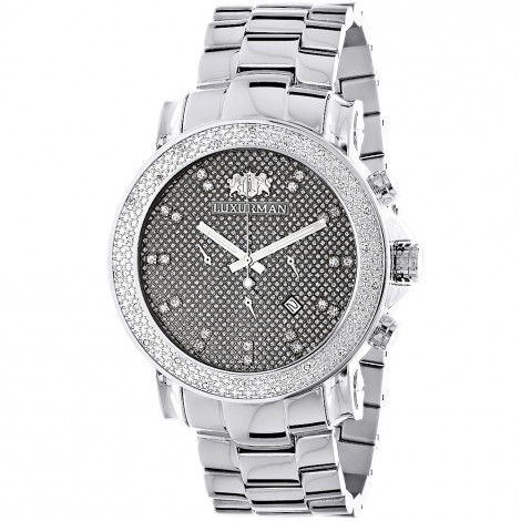 Large Face Diamond Watches for Men Oversized Luxurman Escalade Watch 0.25ct Main Image
