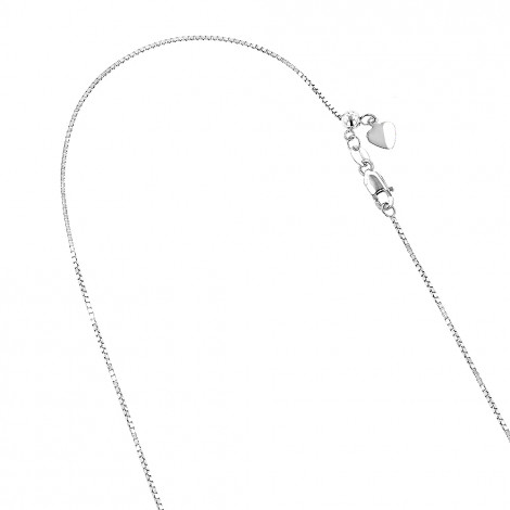 LUXURMAN Solid 10k Gold Box Chain For Women Adjustable 0.7mm White Image