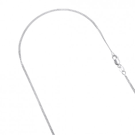 LUXURMAN Solid 10k Gold Curb Chain For Men & Women Gourmette 1mm Wide White Image