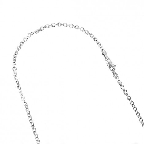 LUXURMAN Solid 14k Gold Cable Chain For Men & Women 3mm Wide White Image