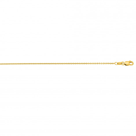 LUXURMAN Solid 14k Gold Cable Chain For Men & Women Round 1.2mm Wide Yellow Image