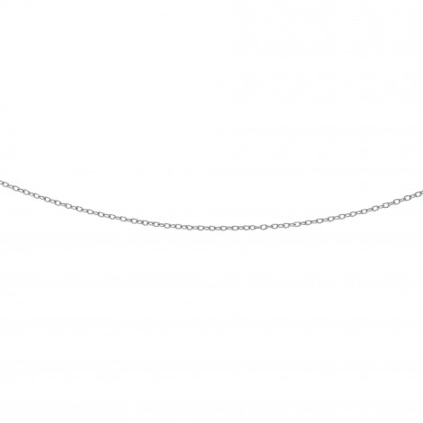 LUXURMAN Solid 14k Gold Cable Chain For Women Textured Link 2.5mm Wide White Image