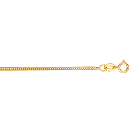 LUXURMAN Solid 14k Gold Foxtail Chain For Men & Women 1mm Wide Yellow Image