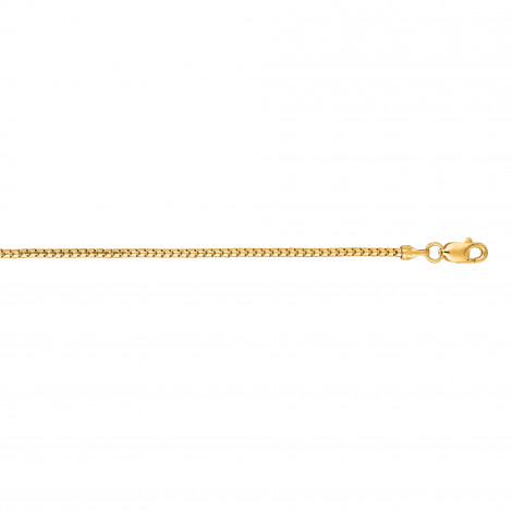 LUXURMAN Solid 14k Gold Ice Chain For Men & Women 1.3mm Wide Yellow Image