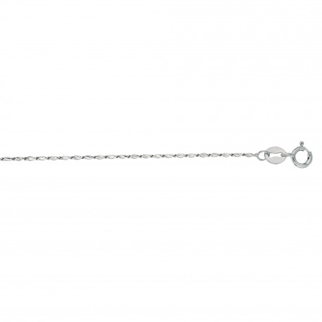 LUXURMAN Solid 14k Gold Lumina Chain For Women 0.8mm Wide White Image