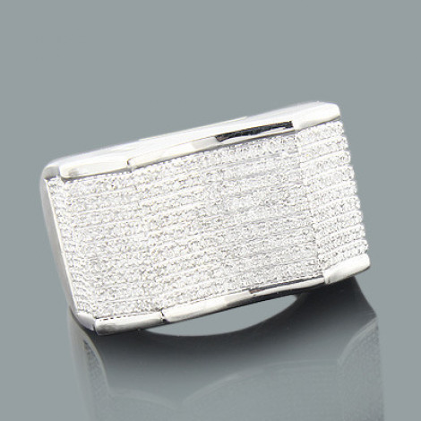 Mens Silver Rings: Affordable Mens Diamond Ring 0.82ct is $599 (60% off)