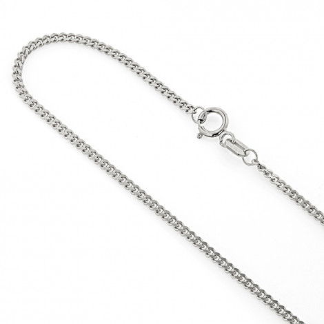 Mens Miami White Gold Cuban Link Curb Chain 14K 1.5mm 22-40in Main Image