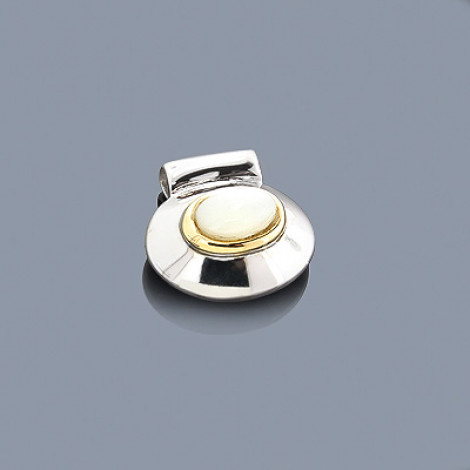 Mother Of Pearl 18K Gold and Sterling Silver Pendant is $54 (72% off)