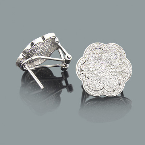 Pave Diamond Flower Earrings 1.20ct 14K Gold pave-diamond-flower-earrings-120ct-14k-gold_1