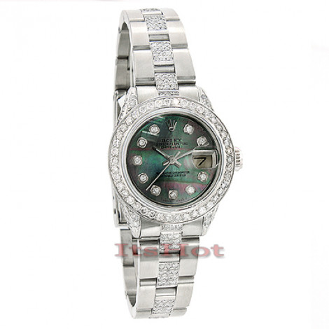 Pre-owned Rolex Datejust Custom Diamond Watch for Ladies 8.50ct rolex-datejust-custom-diamond-watch-for-ladies-850ct_1