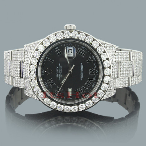 Rolex Oyster Perpetual DateJust Diamond Watch for Men 20.41ct Custom  Main Image