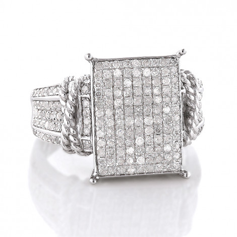 Affordable Sterling Silver Diamond Engagement Ring 0.6ct Main Image
