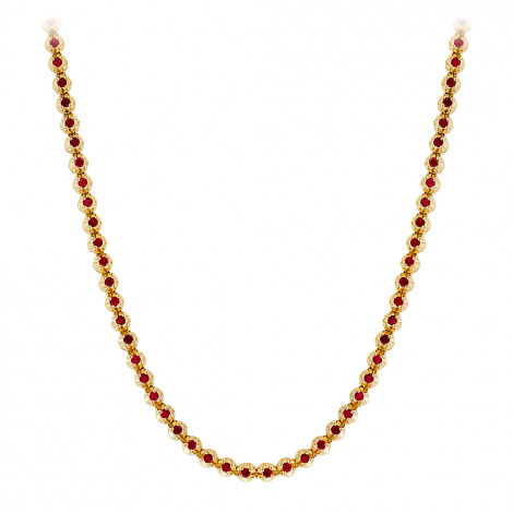 Unique 10K Gold Ruby Necklace for Women 10.5ct by Luxurman Yellow Image