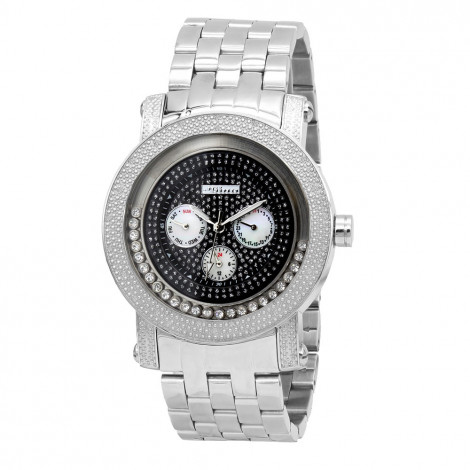 JoJino Moving Stones Real Diamond Watch for Men with Chronograph 0.25ct is $149 (88% off)
