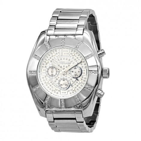 Oversized Jojino Men's Diamond Watch 0.25ct Iced Out White Dial with Subdials Main Image