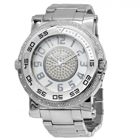 Unique Jojino Diamond Watch for Men w Chronograph Iced Out White Dial Subdials Main Image