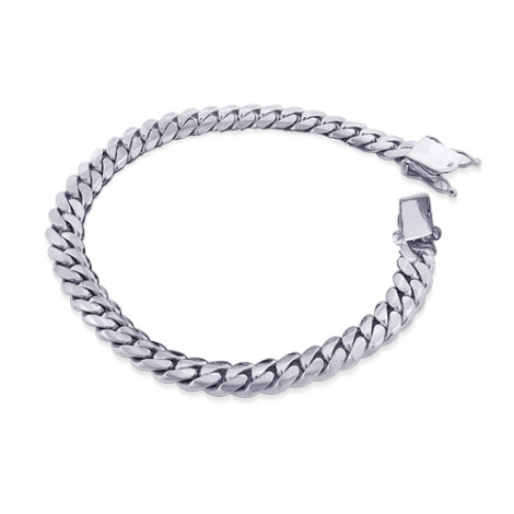 White Gold Miami Cuban Link Curb Chain Bracelet 14K 9.5mm 7.5-9in white-gold-miami-cuban-link-curb-chain-bracelet-14k-95mm-75-9in_1