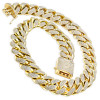 1 Kilo Inch Wide Solid Cuban Link 14k Gold Mens Diamond Chain 60 Carats