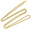 10K Gold Rope Chain for Men 30in 3mm Yellow Rose White Gold