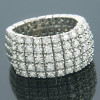 Unique 14K White Gold Designer Diamond Ring for Women Flexible Band 2ct