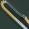 14K Gold Mens Color Diamond Chain Necklace 25.35ct