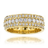 14K Gold Round Diamond Eternity Band 2 Carat Ring by Luxurman