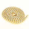 14K Yellow Gold Ball Chain for Men Dog Tag Chain 4mm 22in - 40in
