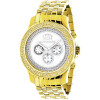 Diamond Watches for Men: Luxurman Mens Diamond Watch Yellow Gold Pltd 0.25