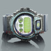 Iced Out G-Shock Watch Blue CZ Crystals DW6900