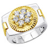 2 Tone Gold Rolex Style Mens Diamond Ring 1ct 14K Gold
