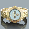 Mens JoJino Diamond Watches Collection 0.25ct Blue MOP Yellow Gold Plated