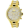Luxurman Liberty Mens Diamond Watch 2ct 18k Yellow Gold Plated
